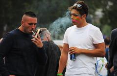 Brighton Pride 2012 (Mark Wordy) Tags: gay man sexy men beer lads muscle smoke guys smoking lgbt straight prestonpark hunks studs butch larger brightonhove brightongaypride brightonpride2012