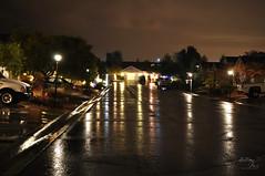 ...like Christmas (Brittany-Anne) Tags: christmas reflection water rain night festive landscape lights nikon long exposure cheer d5000