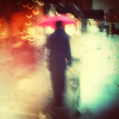 """I'm of Fire and Ice"" (Sion Fullana) Tags: newyork painterly rain umbrella lluvia experimental rainyday poetic parag allrightsreserved newyorkers newyorklife urbanpoetry pinkumbrella pictorialism mobilephotography raininnewyork iphoneography iphoneographer sionfullana nylluvioso throughthelensofaniphone uploaded:by=flickrmobile flickriosapp:filter=nofilter"