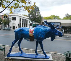 Once in a Blue Moose (Stanley Zimny (Thank You for 20 Million views)) Tags: blue statue funny vermont newengland moose 235