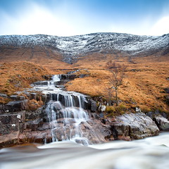 Melting (PeterYoung1.) Tags: uk longexposure nature landscape scotland scenic hills squareformat glencoe glenetive