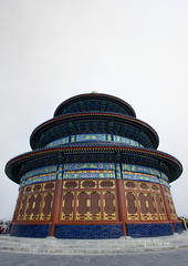 Temple Of Heaven, Beijing, China (Eric Lafforgue) Tags: china city travel roof people cloud color colour history tourism monument vertical horizontal architecture outside temple person photography pagoda asia heaven day outdoor beijing nopeople dome spirituality copyspace ornate templeofheaven ancientcivilization groupofpeople clearsky buildingfront eastasia placeofworship chineseculture pekin partof capitalcity digitalenhancement realpeople capitalcities traveldestinations colorimage famousplace buildingexterior nationallandmark colorpicture placeofinterest internationallandmark lowangleview traveldestination mg0092 traditionallychinese groupofpersons stepandstaircase