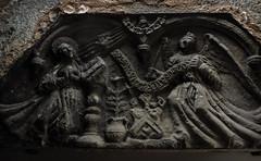 dunfermline, the annunciation stone in the abbey museum (violica) Tags: church abbey scotland unitedkingdom fife chiesa annunciation regnounito dunfermline basrelief abbazia scozia bassorilievo annunciazione