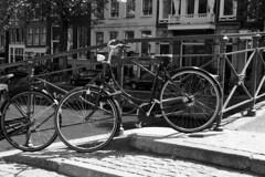 Amsterdam Bike (elhawk) Tags: bw amsterdam bike canal