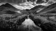 Buttermere (Mono) (tony.wish) Tags: landscape mountains nature nikon d5300 uk england cumbria countryside stream nationalpark sigma wideangle lakedistrict 1020 buttermere mono blackandwhite