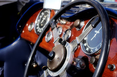 Classic Car Leather and Wood (simonnash.gallery) Tags: classic car leather walnut dashboard steering wheel chevrolet vintage