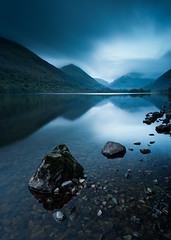 Brothers Water Blues (Jake Pike) Tags: blues brothers water lake district hills mountains cloud mood morning reflections dhapes triangles