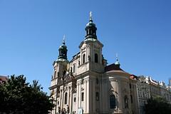 St Nicholas Church, Old Town Square (manic_molly) Tags: praha praga