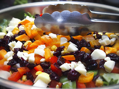 2016-08-13 Everything but the kitchen sink salad! (Mary Wardell) Tags: salad fruit veggies vegetables cheese colors colorful summer ps
