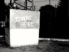 Me too! (Greyframe) Tags: greyframe grey black blackandwhite white monochrome graffity signal sign message personal outdoor