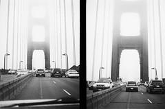 (53 miles per burrito) Tags: bw 400 film halfframe olympus pen ee 2 tri x 35mm blackandwhite monochrome goldengate bridge sanfrancisco marin fog zipper grain grainy olympuspenees2