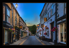 The Street (Kevin From Manchester) Tags: llangollen wales street sky photoborder lights architecture shops building hdr kevinwalker canon1855mm