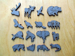 Lions, Masai Mara, Kenya (pefkosmad) Tags: jigsaw puzzle hobby pastime leisure wooden wentworth whimsy 250pieces woodenpuzzles whimsypieces lions masaimara kenya photo photograph animals wildlife complete lasercut
