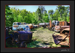 Monuments to the Past (the Gallopping Geezer 3.8 million + views....) Tags: car automobile truck oldie vintage classic old historic abandoned decay decayed worn derelict faded masonmotors collection forsale mason mi michigan upperpeninsula past canon 5d3 tamron 28300 geezer 2016