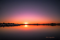 Sunset (Melanie Martinu) Tags: longexposure sunset sonnenuntergang nature natur landscape landschaft sun lake see bavaria germany wasser water evening sky