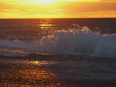 Sunset Waves (ukstormchaser (A.k.a The Bug Whisperer)) Tags: sunset waves water seas ocean beach norfolk weybourne uk england summer crashing august movement ripples clouds weather