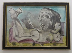 """Nu couch  l'oiseau"", 1968, Pablo Picasso (1881-1973), Muse Ludwig, Cologne, Rhnanie du Nord-Westphalie, Allemagne. (byb64) Tags: museludwig peterludwig museumludwig cologne kln colonia rhnaniedunordwestphalie nordrheinwestfalen northrhinewestphalia renaniadelnortewestfalia renaniasettentrionalevestfalia rhnanie rhineland rheinland renania ville allemagne deutschland germany germania alemania europe europa eu ue rfa nrw stadt ciudad town citta city muse museum museo artmoderne xxe 20th artcontemporain kubismus cubisme cubisn cubismo picasso pablopicasso portait retrato femme woman nu nake nucouchloiseau"