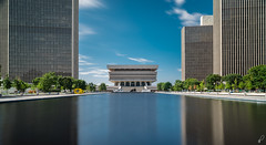 Empire Plaza (Empty Quarter) Tags: sony a7r 2470 f4 albany ny new york upstate empire plaza architecture library building daytime longexposure neutral density reflection reflecting pool