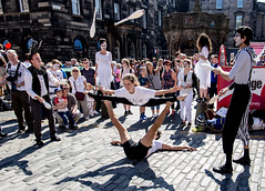 Edinburgh  Fringe Festival_ (tomwilson14) Tags: theatre edinburghfringefestival urban crowds actors street acrobats juggling