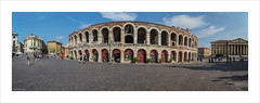 Arena di Verona (Explore 23/09/16 #72) (andyrousephotography) Tags: italy verona arena amphitheatre roman arcades tourists opera shows tickets afternoon panorama elements photomerge canon eos 5d mkiii