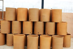 Ecofiltro pots stacked - Charlie on Travel (CharlieOnTravel) Tags: ecofiltro guatemala tour sustainable antigua water filter pots eco
