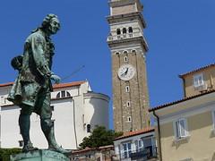 Place Guiseppe Tartini / Piran / Pirano / Istrie / Slovnie / 19 aot 2016 (leonmul68) Tags: piran pirano istrie slovnie tartini guiseppetartini 2016 19aot2016 adria adriatique