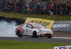 Ashley Sutton - Tyre Puncture (jambox998) Tags: race accident incident mg6 gt mg 6 btcc 2 tyre punture blow up out