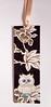 BM11 - Handmade bookmark (tengds) Tags: bookmark owl cream flowers black white leaves ribbon papercraft handmade tengds