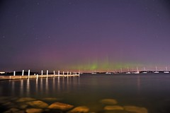 Lights over the Lake (Kirby Wright) Tags: auroras northern lights astro astronomy astrophotography aurora borealis green purple pillars auroral oval lake mendota madison wisconsin dane county madison365 rocks wide angle night shot sky stars geomagnetic storm pier memorial union university universityofwisconsinmadison uw nikon d700 tamron 2040mm 2040 f2735 manfrotto long exposure big dipper polaris north star