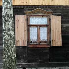 urle window (kexi) Tags: square window old curtains birch poland polska polen polonia pologne urle samsung wb690 july 2015 brown white dissymmetry instantfave