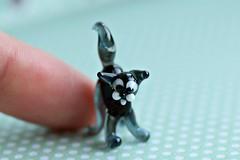 Precious Pet (Maria Godfrida) Tags: animals cats pets small tiny blackcat statue image figure sculpture pussycat glass macro closeup