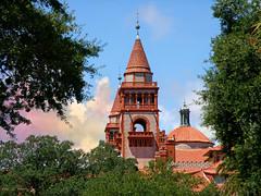 Flagler College (Chris C. Crowley) Tags: flaglercollege henryflagler architecture building turret spires tileroof staugustineflorida college hotel sky clouds trees hotelponcedeleon