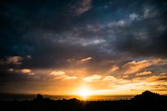 Sunset (Matias Barrios) Tags: sunset sun clouds sea shadows colors puntadechoros coquimbo chile