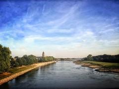 From the train (Gies!) Tags: iphoneography uploaded:by=instagram deventer ijssel rivier vanaf spoorbrug iphone