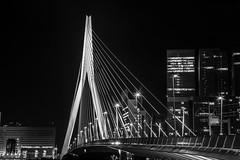 Rotterdam -1-3 (Bas Broeders) Tags: rotterdam erasmusbrug bridge long exposure night sluitertijd lange