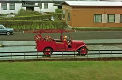 Slökkvilið Hafnarfjarðar (Gaflarinn) Tags: old car fire photo iceland hafnarfjörður ísland rautt 火 bílar slökkvilið útkall álfaskeið