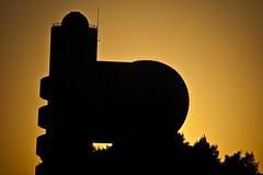 Building sunset silhouette (Avishai F) Tags: sunset sun colors silhouette israel nikon rehovot d40 weizmanninstitute 55200vr