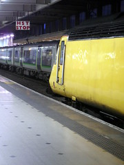 Euston (Darlo2009) Tags: uk england london camden nr euston nmt hst eustonstation mkiii mk3 mark3 markiii highspeedtrain networkrail class43 londonboroughofcamden wcml londoneuston boroughofcamden flyingbanana 43014 newmeasurementtrain doctoryellow theflyingbanana eustonrailwaystation