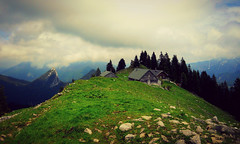 Wandern (freyavev) Tags: mountains alps clouds munich mnchen landscape cabin tegernsee