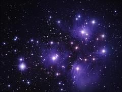 M 45 The Pleiades (Chuck Manges) Tags: sky night stars star space cluster telescope astrophotography m45 orion astronomy messier deepspace pleiades refractor 102mm deepsky apochromatic nebulosity oriontelescope Astrometrydotnet:version=14400 qhy9m ed102t startools germanequatorial