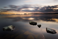 Floating rocks (- David Olsson -) Tags: longexposure sunset lake seascape nature water clouds landscape nikon october rocks sundown cloudy sweden stones karlstad le colourful fx vnern 2012 clearwater vrmland 1635 ndfilter d600 1635mm lakescape smoothwater skutberget 2exposures manualblend manuallyblended davidolsson nd500 lightcraftworkshop 1635vr