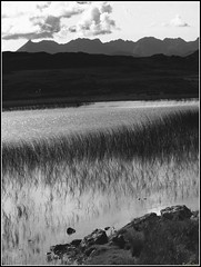 Cuillin Mountains, Isle of Skye, Scotland (robin denton) Tags: blackandwhite bw mountain lake mountains skye landscape scotland blackwhite isleofskye cuillins scottishisland mountainscenery mountainphotography