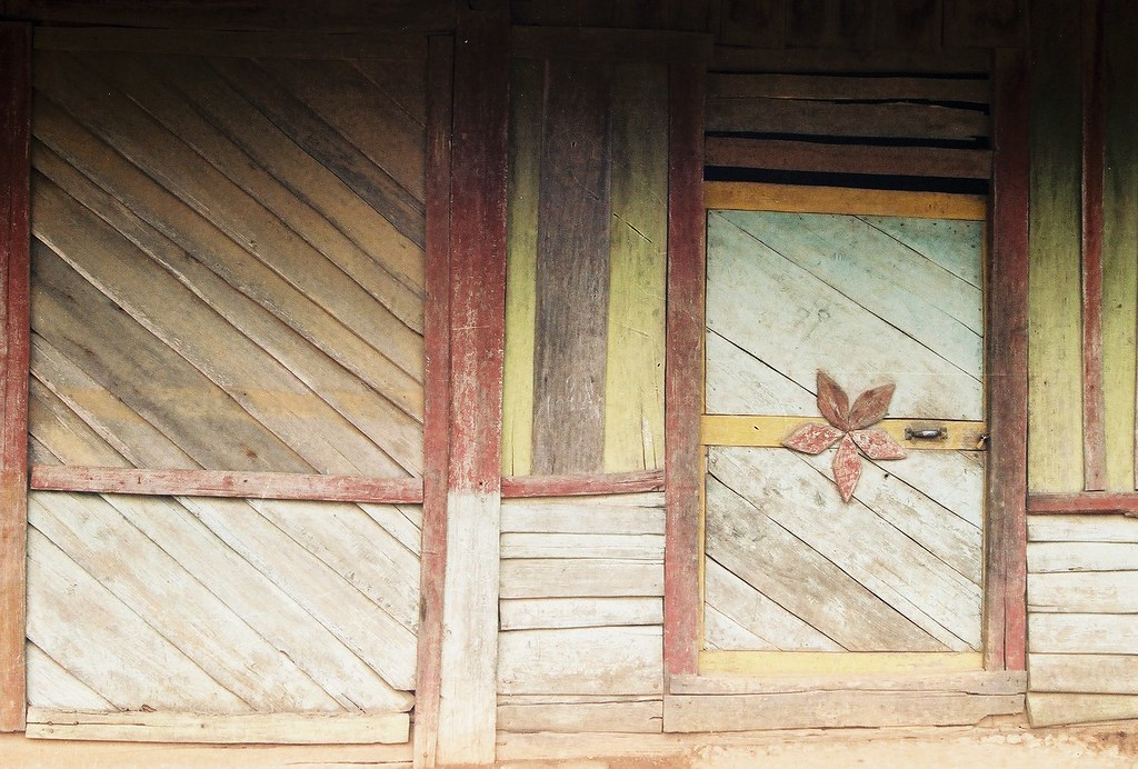 House detail, Phongsali, Laos