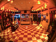 "Cozy Cone Motel Lobby - Cars Land • <a style=""font-size:0.8em;"" href=""http://www.flickr.com/photos/85864407@N08/8187215144/"" target=""_blank"">View on Flickr</a>"