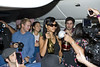 Rihanna partying with her fans abord flight 777 from Los Angeles to Mexico City USA