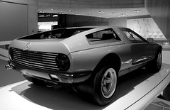 Mercedes C111 ([chaos and creation in the backyard]) Tags: blackandwhite bw mercedes noiretblanc mercedesbenz mercedesbenzmuseum mercedesmuseum c311 worldcars