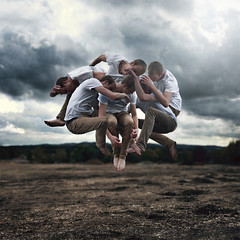 Of mass and matter. (David Talley) Tags: cloud storm texture field clouds photography jump fineart floating stormy science mass float matter levitate jeremygeddes davidtalley
