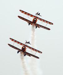 Boeing Stearman Open-cockpit Biplanes, Breitling Wingwalking team 百年靈機翼行走表演隊