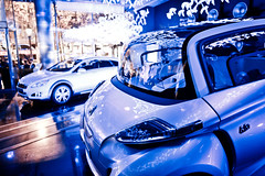 Peugeot Avenue Paris Emotion in Motion  Nuit Blanche (Peugeot Avenue Paris) Tags: barcelona auto show light white paris france art cars car shop design photo wanda automobile origami photos lumire live champs elyses voiture boutique showroom animation avenue blanche papier peugeot voitures artistes artiste noire blanck origamis lieu culte
