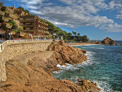 Tossa de Mar (mcgin's dad) Tags: 2 spain catalonia hdr tossademar photomatix thegalaxy canondigitalixus70 panoramafotogrfico